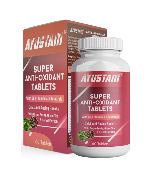 Super Anti-oxidant Tablets (with 30+ Vitamins & Minerals) (with Quick Anti-ageing Results)  Image 1