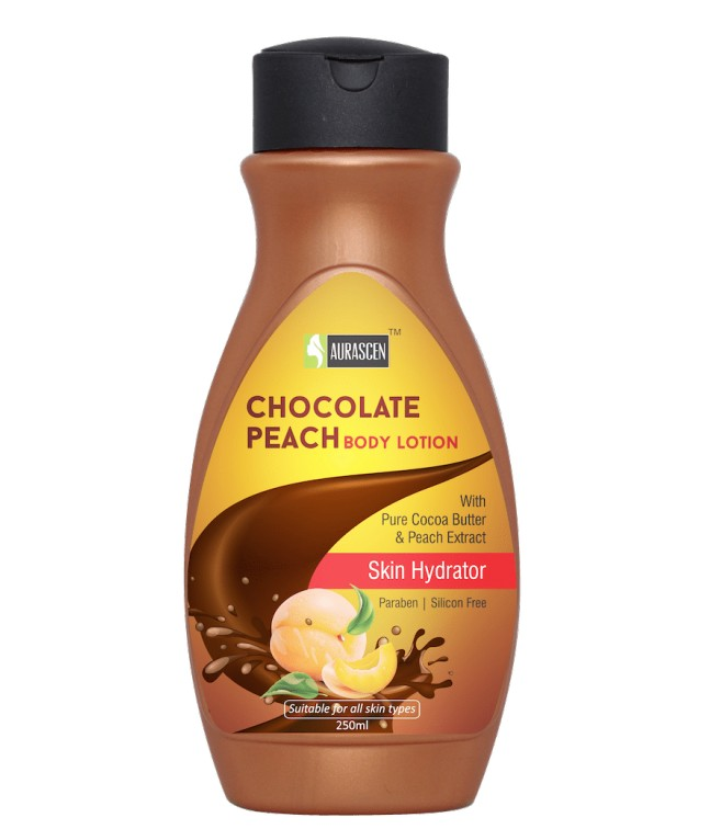 Chocolate-peach Body Lotion (with Pure Cocoa Butter) (paraben/silicon Free) (skin Hydrator)  Image 1