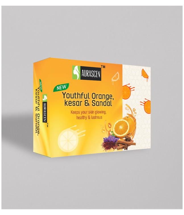 Youthful Orange, Kesar & Sandal Glycerin Soap Image 1