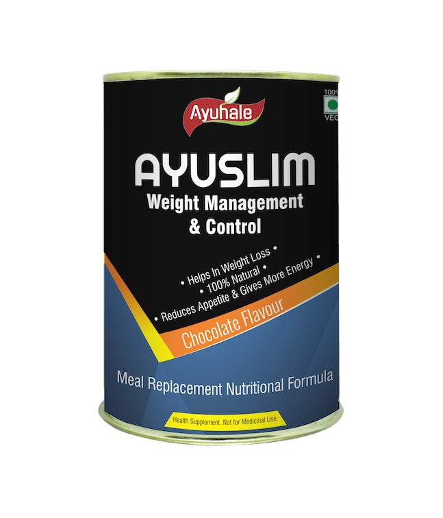 Ayuslim Weight Management & Control  (chocolate Flavour) (with 20+ Vitamins & Minerals) Image 1