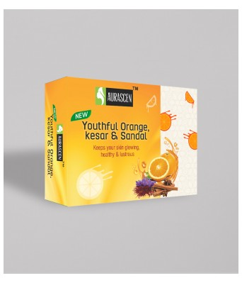 Youthful Orange, Kesar & Sandal Glycerin Soap